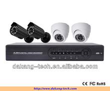 Color COMS 800TVL H.264 4CH CCTV DVR Kit ,4 IR Waterproof Cameras