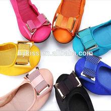 ladies rollable foldable dance shoe