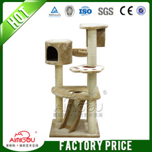 wooden cat house / outdoor cat tree house