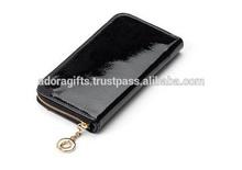 ADALW - 0019 attractive fancy purses for women / ladies design ladies purses mumbai / black leather purse ladies with zip around