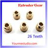 3D Printer Parts Extruder Gear 26 Teeth