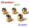 3D Printer parts Extruder gear 34 Teeth 5mm inner diameter