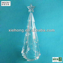 Fashional Clear Plastic Christmas Tree Ornament ,decoration with LED Lighting