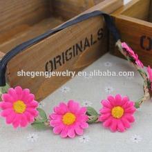 New Festival Flower Floral Hair Garland stretchy elastic Headband