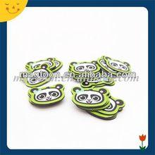 custom small cute panda shape sovenir fridge magnet for children