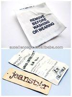 Hto sell jeans washing tag 2014