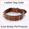 Dog Collar with Leather Stud Pet Collar Pet Products