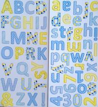 Custom different designs of alphabets