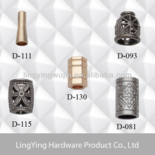 Shinny metal decorative rope stopper for garments