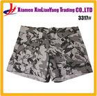 wholesale white and grey plaid women camouflage shorts women shorts