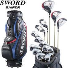 Katana golf 2014 model SWORD SNIPER club full set, Fujikura original Motore Speeder shaft specifications, with caddie bag