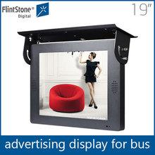 Flintstone 19'' advertising tv in bus, seat back tv in bus, bus led display screen