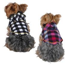 Dog Black/White and Color Plaid Hoodie Jacket Pet Winter Coat