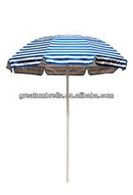 2015 hot item 6 feet Solar Reflective Beach Umbrella with air vent and tilt