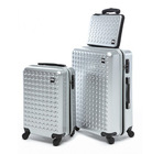 classical abs pc luggage for business and travel , trolley case set 20'' 24'' 28''