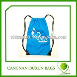 Low Cost brand drawstring bag,ecological drawstring bag,customized logo branded promotional drawstring bag