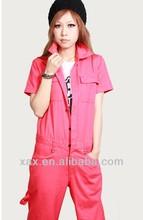 women's uniform, pink cotton jersey t-shirt printing, overall t-shirt printing
