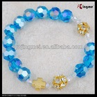 10mm blue crystal fashion design personalized rosary bracelet