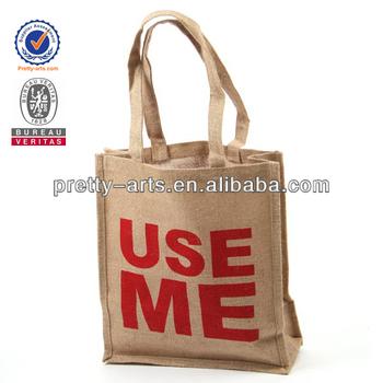 2014 new good quality custom printing jute shopping bag wholesale