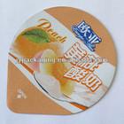 Die cut printed aluminium foil lids and rolls for PP PS plastic cups