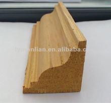 teak wooden mouldings frame for corner factory sell