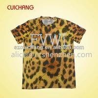 custom t shirts designs, New style leopard print t shirt, t shirt with all over leopard print with custom logo
