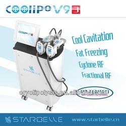 Professional Vacuum Roller RF Cavitation Cryolipolysis Cryotherapy Lose Weight Beauty Salon Equipment