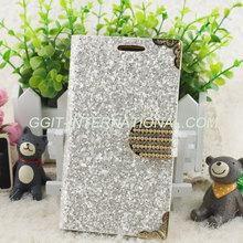 Diamond Leather Flip Protective Case For Samsung S3 I9300 Case Bling Glitter Cover