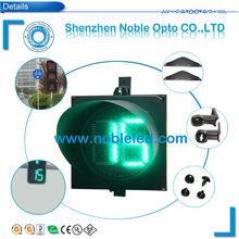 300mm solar powered traffic light easy install digital timing light