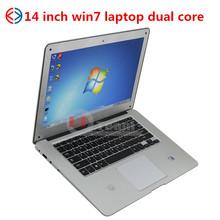 14.1 inch Dual Core Slim Laptop Win7 Intel Atom D250 Mini Netbook vatop mid camera