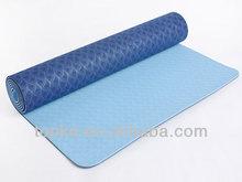 Double color TPE yoga mat-2014 Hot Sale/folding exercise mat/thick exercise mat