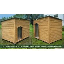 Wooden heated dog kennel for large dog DK013L
