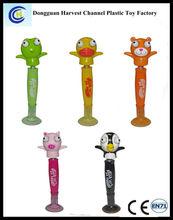 3d animal swing head ball pen