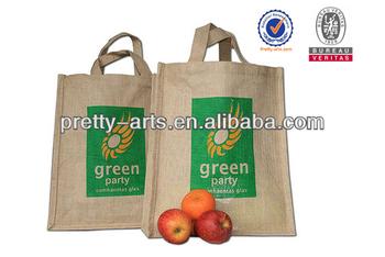 2014 new best selling good quality custom printed jute shopping bag wholesale
