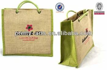 2014 new top quality custom made jute shopping bag wholesale