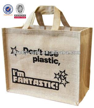 hot sale promotional high quality custom printed jute shopping bag