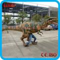 parque de atracciones para adultos caminar velociraptor traje de dinosaurio