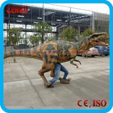 Amusement park adult walking velociraptor dinosaur costume
