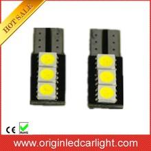 Top quality led lighting auto tuning car led canbus SMD LED reading lamp T10-5050-3LED ,t10 led car lamp