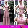 OEM Factory Dubai Designers Wholesale Pink Floral Stars Prom Evening Dresses