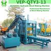 hydraulic paving brick making machine, VEP-QTY3-13,auto brick machine,interlocking soil block machine