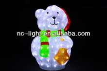 3D LED christmas acrylic bear motif light