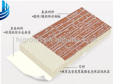 Color painted embossed steel sheet aluminized paper with pu sandwich panel