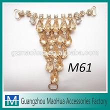 Newwest design gold chain sandal upper ornaments M61