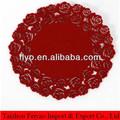 30 * 30 cm redondo del fieltro del rojo mantel
