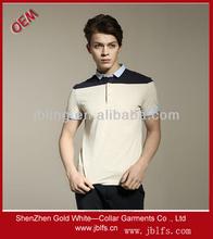 popular splicing men's polo t shirt