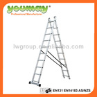 2 section garden stair steps with aluminum frame and 10 steps