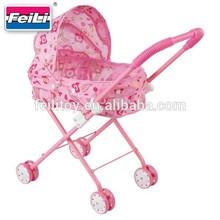Feili china toy export toy children pink stroller baby doll pram stroller
