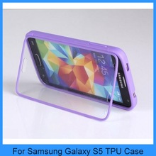 For Samsung Galaxy i9600 Built in Screen Protector Samsung Galaxy s5 TPU Case Cover 7 Colors