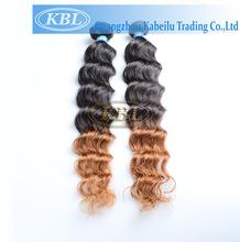 Wholesale 100% Brazilian ombre Hair Extension , Hot sale white hair dye